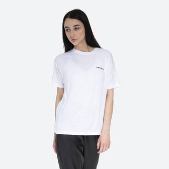 Carhartt WIP Script Embroidery T-Shirt I027691 WHITE/BLACK