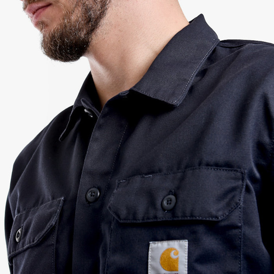 Carhartt Master Shirt I022237 DARK NAVY RINSED