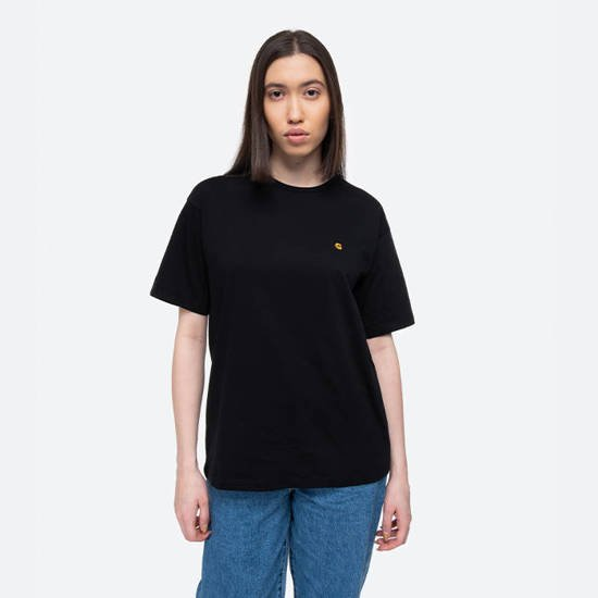 Carhartt WIP W S/S Chase T-Shirt I028900 BLACK/GOLD