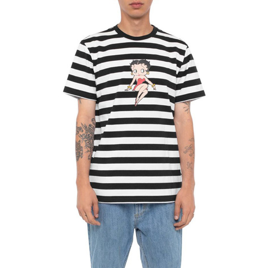 Huf Stripe Betty Boop KN00214 BLACK
