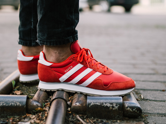 "Pánské boty sneakers adidas Originals Haven ""Red"" BY9714"