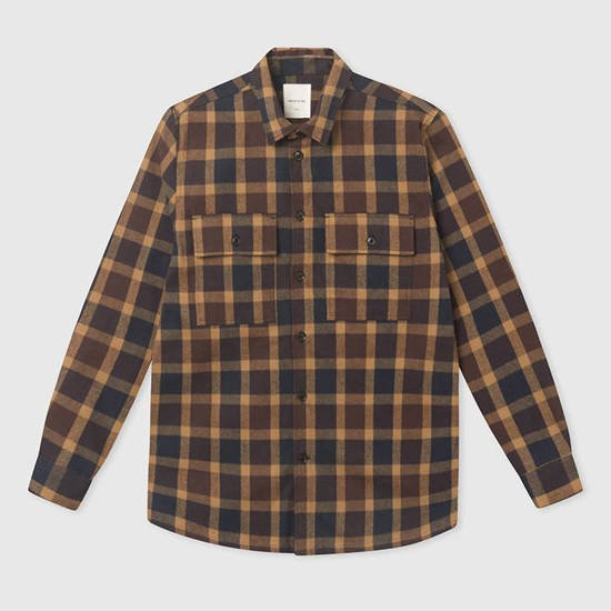 Wood Wood Franco Shirt 12035310-5223 NAVY CHECK