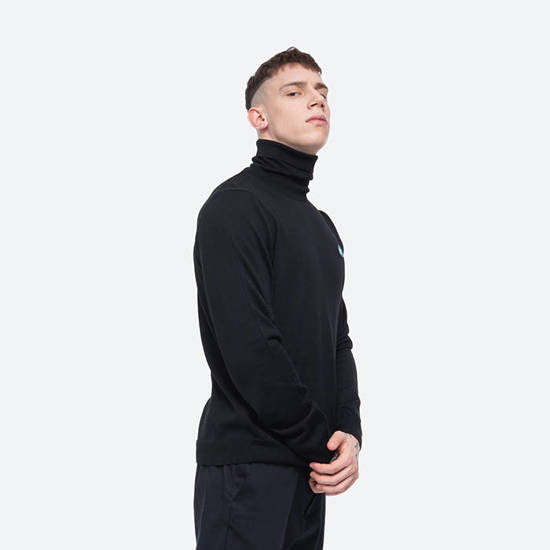 Wood Wood Luc Turtlenenck 10005508-4142 BLACK