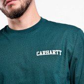 Carhartt College Script T-Shirt I024806 DARK FIR/WHITE