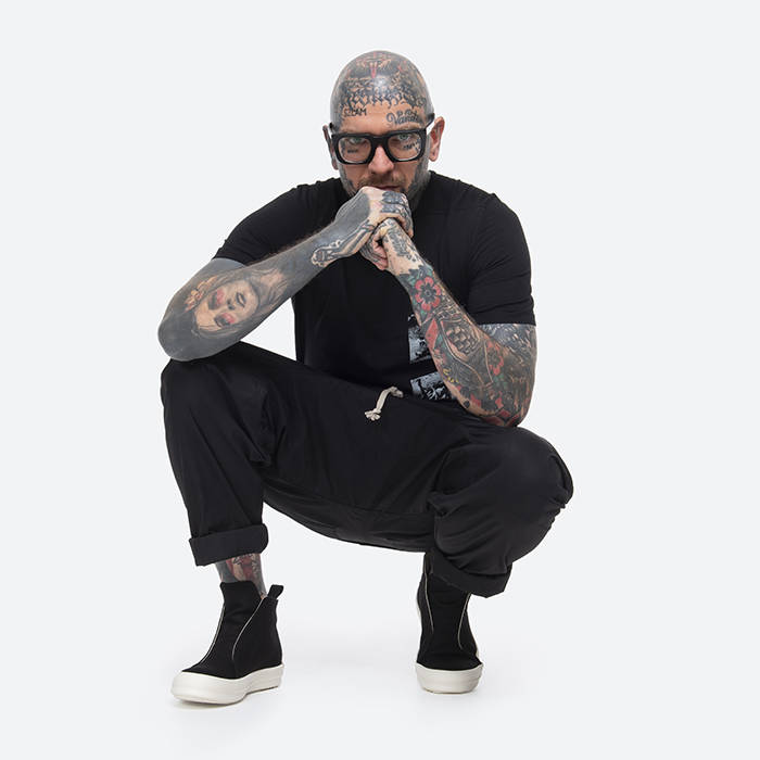 Rick Owens Level Tee DU20S5250 RNEP2 BLACK/PEARL
